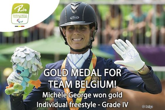 BEParalympics  - Congratulations @GeorgeMichele #gold with 76,3% in the freestyle #Rio2016 #teambelgium