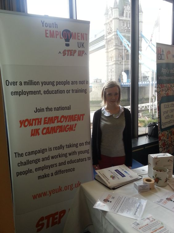 Ambassador Jess at the Voice of Apprenticeship Conference 2013