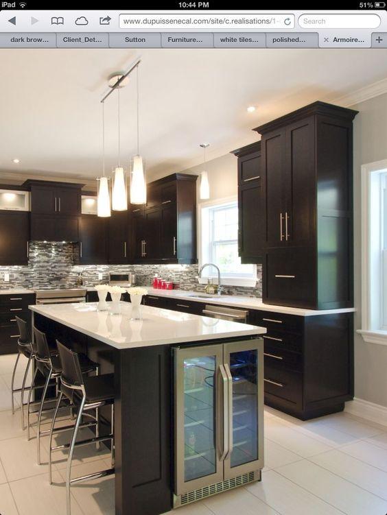 Kitchen Island With Wine Cooler Diy Kitchen Renovation Kitchen Island Design Kitchen Island Decor