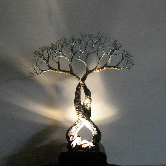 Wire Tree Of Life Soul Mates Table Lamp                                                                                                                                                     More