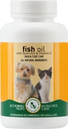 Fish oil with quercetin vitamin e for dogs cats is for Fish oil for dogs skin