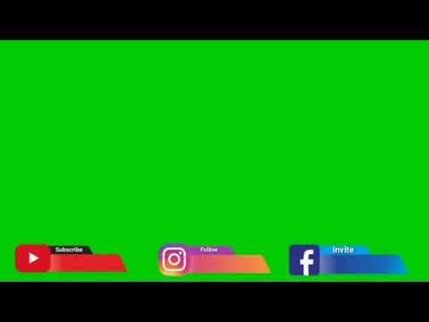 New Templet Green Screen Sosmed 2019 Youtube Instagram Facebook 25 Youtube Musik Video Gerak