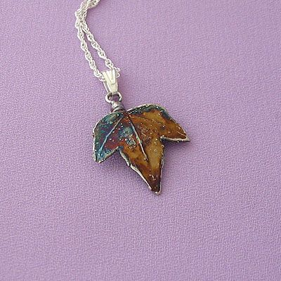 Ivy Leaf Autumn Silver Necklace - Patagonia Gifts