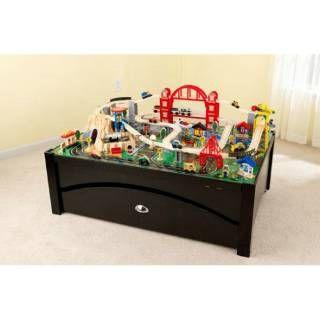 Check out the KidKraft 17935 Metropolis Train Table and Set priced at $202.09 at Homeclick.com.