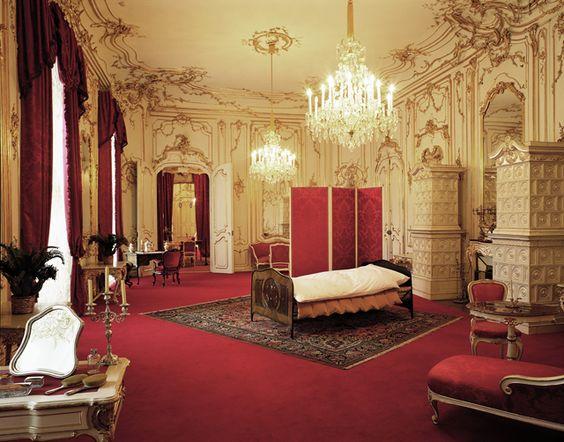 Wohn- und Schlafzimmer - http://www.hofburg-wien.at/wissenswertes ...
