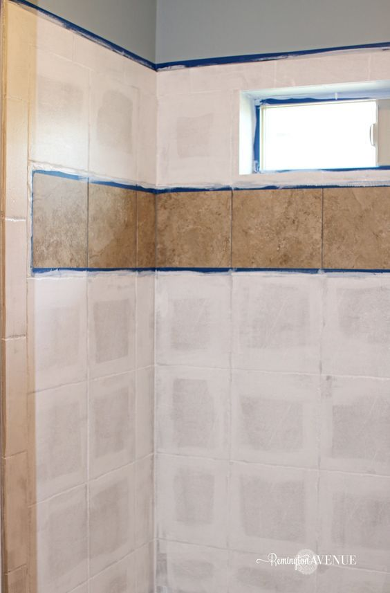 How To Paint Shower Tile Painting Bathroom Tiles Painting