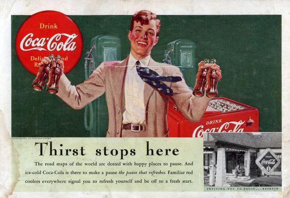 ♥ Coca Cola   Coke Retro advert   Enjoy Coke   http://defharo.com
