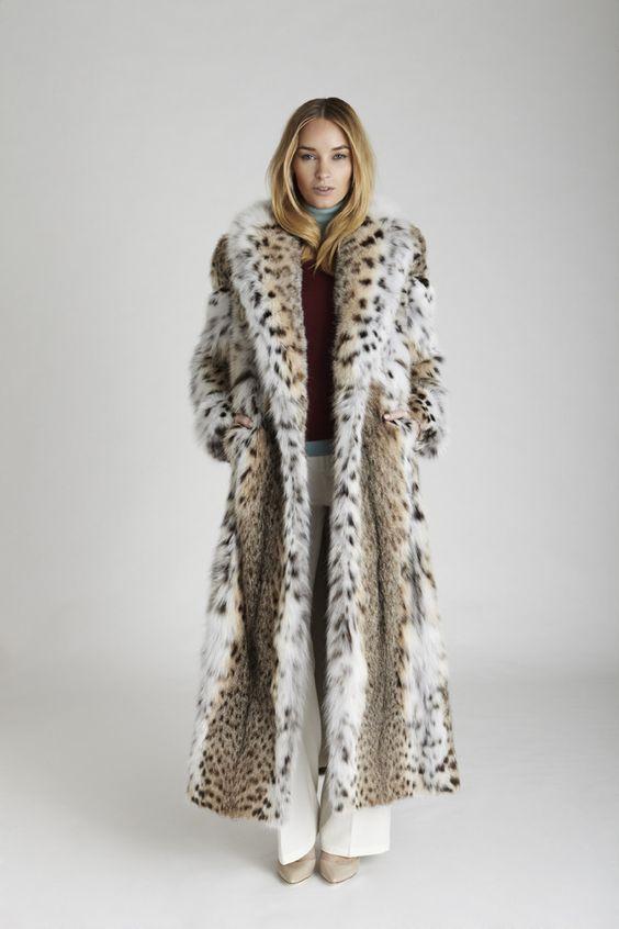 Helene Lynx Fur Coat | Coats York and New york