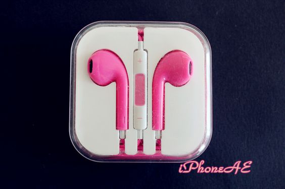 Pink In-ear Headset for all iPhones Shop at www.etsy.com/shop/iphoneae $18.98AUD A small present will be offered for each purchase.