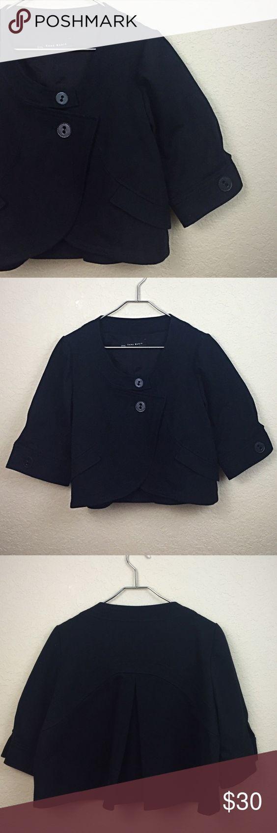 Zara jacket Zara black crop jacket size xl like new no damages $70 Zara Jackets & Coats
