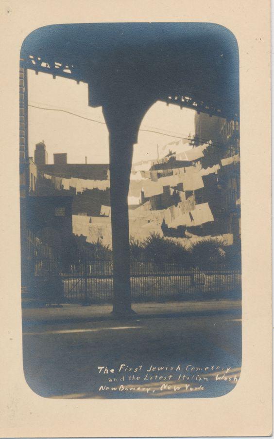 First Jewish Cemetary and Latest Italian Wash, New Bowery