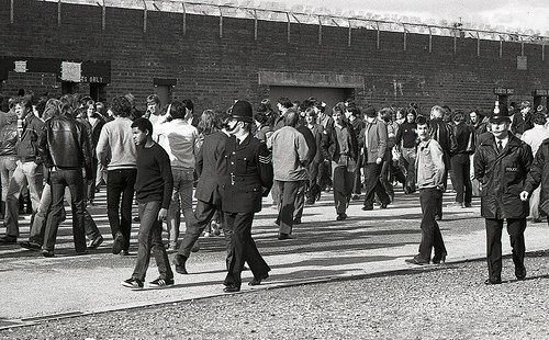 On Patrol Outside the Ground - Manchester Derby 1981 | Flickr - Photo Sharing!