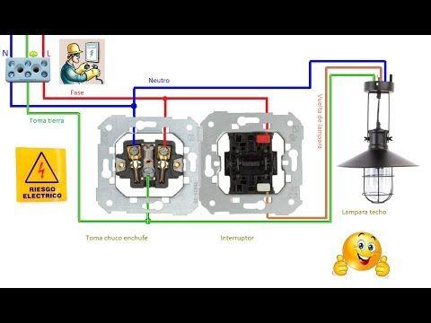 Esquemas Eléctricos Esquema Eléctrico De Toma De Enchufe E Interruptor Esquemas Electricos Enchufe Electrico Enchufe