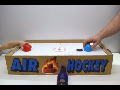 How To Make Air Hockey With Air Motor Youtube Air Hockey Air Hockey Table Hockey Crafts