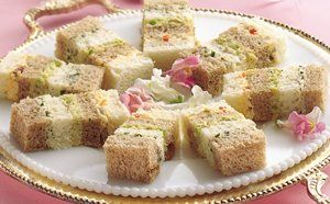 Party ribbon sandwiches tea time pinterest club for Club sandwich fillings for high tea
