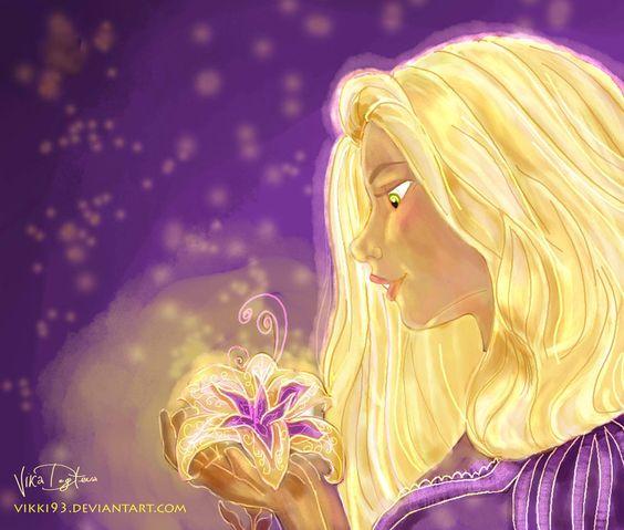Rapunzel with a flower