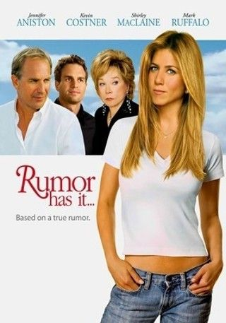 Rumor has it...In this Rob Reiner comedy, Sarah Huttinger (Jennifer Aniston) travels to California for her sister's wedding, where her grandmother (Shirley MacLaine) reveals a bit of gossip: Sarah's mother cheated on her father just a few days before they were married. The plot thickens when Sarah hears a rumor about a local family who served as the real-life inspiration for The Graduate's Robinson clan. Mark Ruffalo, Kevin Costner and Mena Suvari co-star.