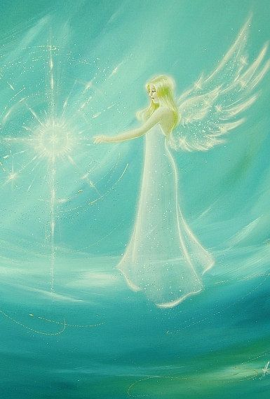"""Limited angel art photo """"found the light"""" , modern angel painting, artwork, also for frame, picture, decoration"""