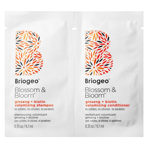 Briogeo Blossom & Bloom Ginseng + Biotin Volumizing Shampoo & Conditioner (sample)