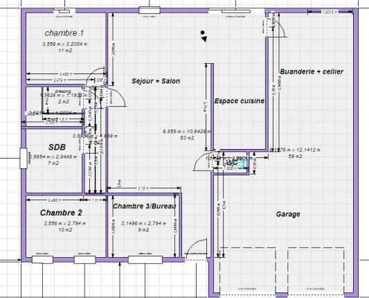 Turbo Plan maison plain pied 100m2 - votre avis (87 messages  YY55