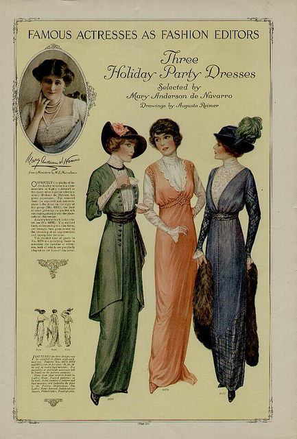 1914 fashion plate by pennyspitter, via Flickr: