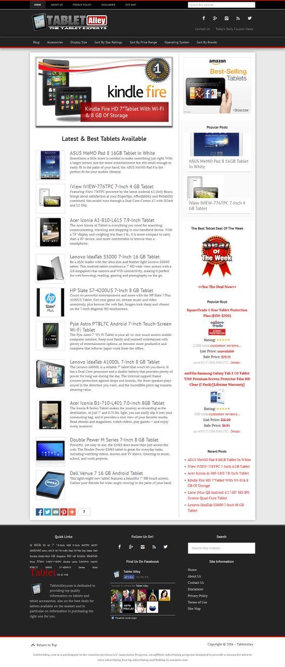 New tablet website for sale $99