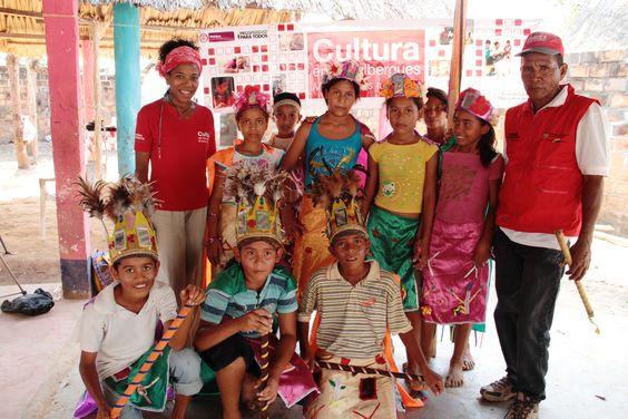 Grupo de la danza del indio en Punta de Horno, Magdalena