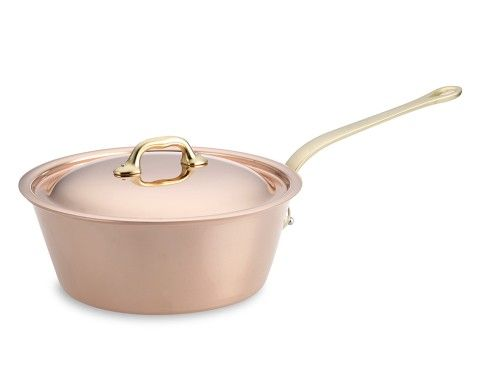 Mauviel Copper Splayed Saucepan