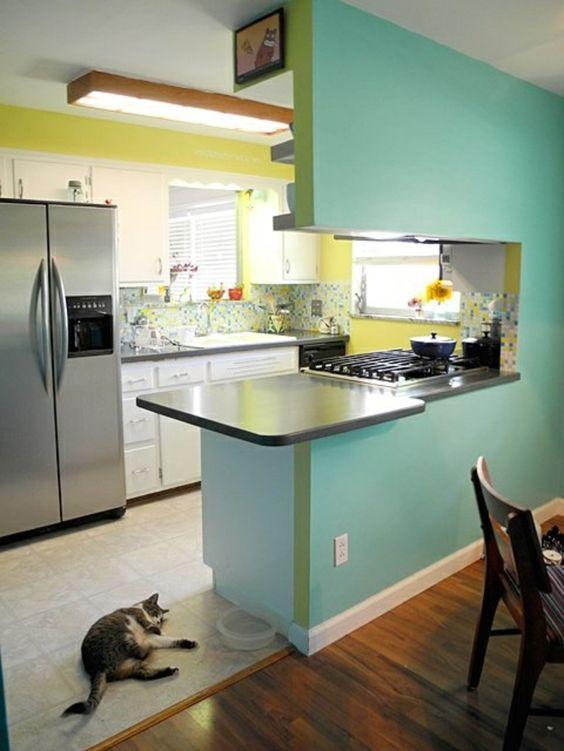 D couvrir la beaut de la petite cuisine ouverte for Cuisine ouverte qui se cache