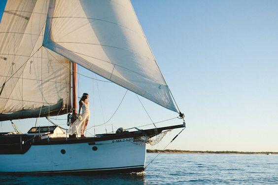 Bride sail boat