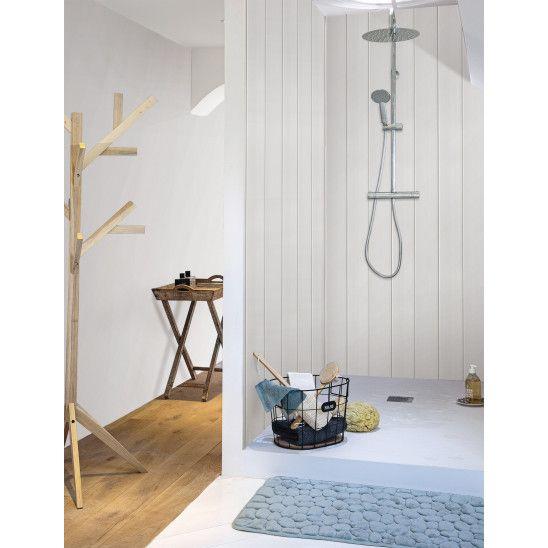Revetement Exapan Line 3000 Decoration Blanc Lambris Pvc Blanc Parement Mural