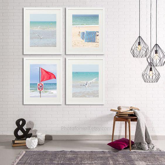Beach photography set, beach waves Bathroom Decor Set of 4 ...