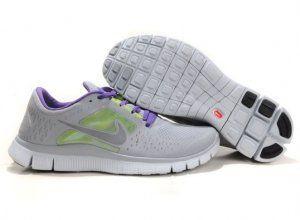 2012 Nike Free 5.0 V3 Womens Running Shoes Grey Green Purple