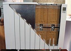 Teilspeicherheizungen Bestehen Aus Einem Schamottekern Einer Stahlblechummantelung Und Dem Heizkorper Selbst Foto Energie E Heizung Speicher Elektroheizung