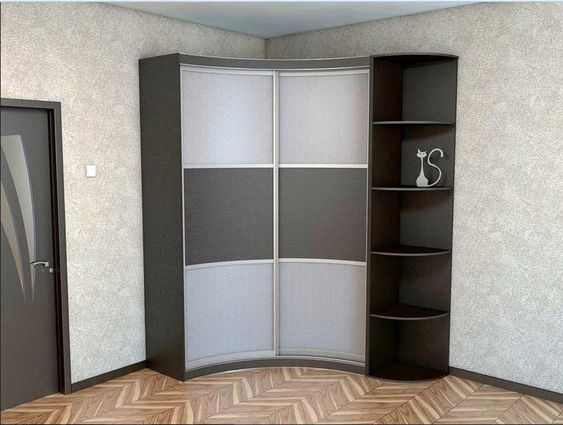 Corner wardrobe closet and corner shelves design for small bedroom furniture deco ideas - Corner wardrobe design ...