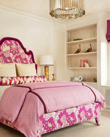 Pink bedroom, Oly Studio pendant light @laylagrayce http://www.laylagrayce.com/Products/Oly-Studio-Grayson-Chandelier__OLY175.aspx
