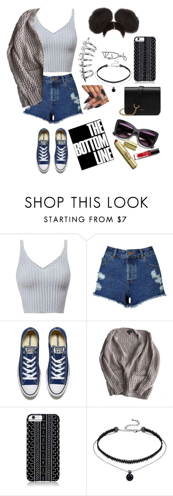 """Untitled #59"" by mainengg ❤ liked on Polyvore featuring Miss Selfridge, Converse, Topshop, Savannah Hayes and Mulberry"