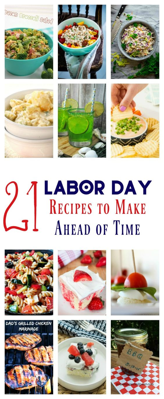 21 Labor Day Recipes to Make Ahead of Time