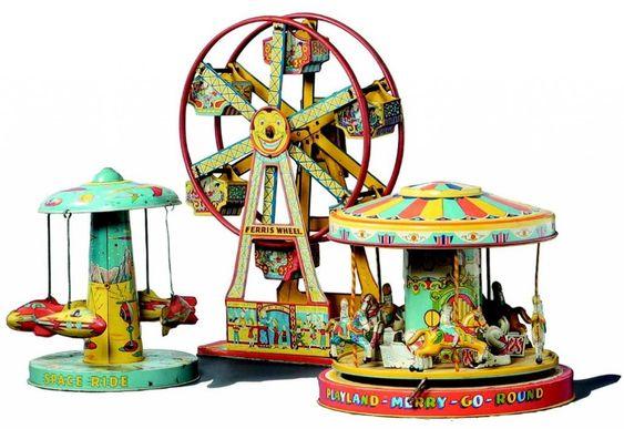 Chein tin circus toys...