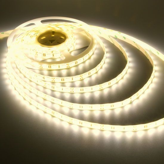 Outdoor Warm White Led Light Strips 12volt Led Ribbon Lights 3528 Waterproof Led Strip 60leds M Strip Lighting Led Light Strips Led Strip Lighting