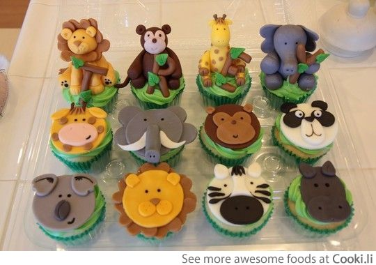 Amazing Animal cupcakes See More at http://www.cooki.li/ -