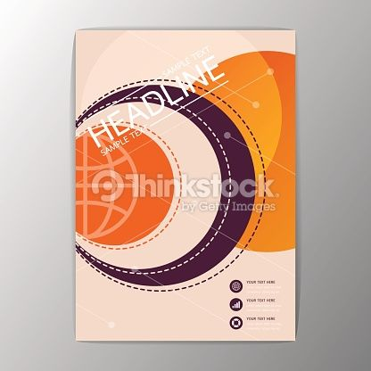Vector Art : A4 Abstract Background modern circle design, Business Corporate…