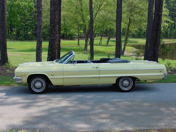 1964 ss impala convertible yellow antique cars classic cars collector cars for sale and. Black Bedroom Furniture Sets. Home Design Ideas