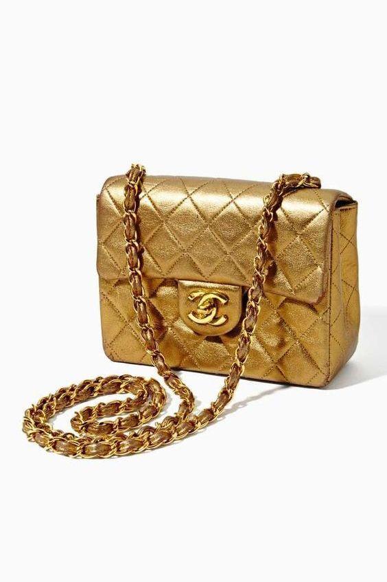 Blogger Gold Chanel Handbag Vintage Chanel Chanel