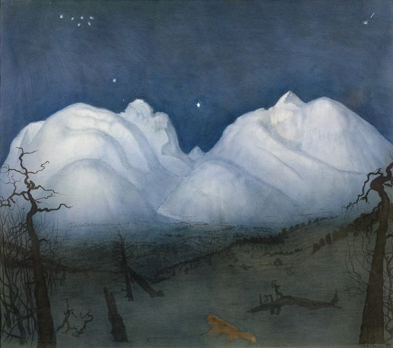 Harald Sohlberg Winter Night in the Mountains 1918 - 24. First Known When Lost