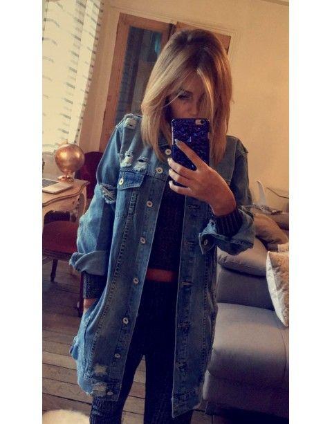 aff883134 Longue En Jeans Mode 2018 2019 Femme Zara Européenne – Veste IgmYb6v7yf