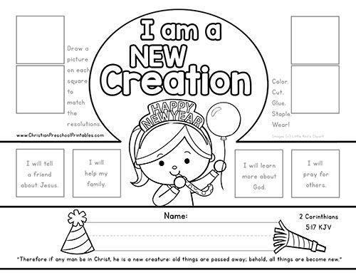 New Year Bible Printables Sunday School Kids Kids Sunday School Lessons Sunday School Crafts For Kids
