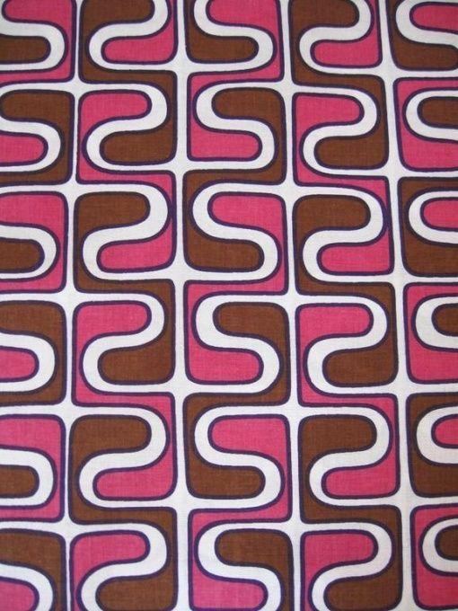 70er Jahre Stoff Vintage Fabric Curtains Fabric Carpets