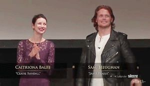 Sam Heughan and Caitriona Balfe ~ Outlander Fan Gathering Highlights http://italianoutlanders.tumblr.com/