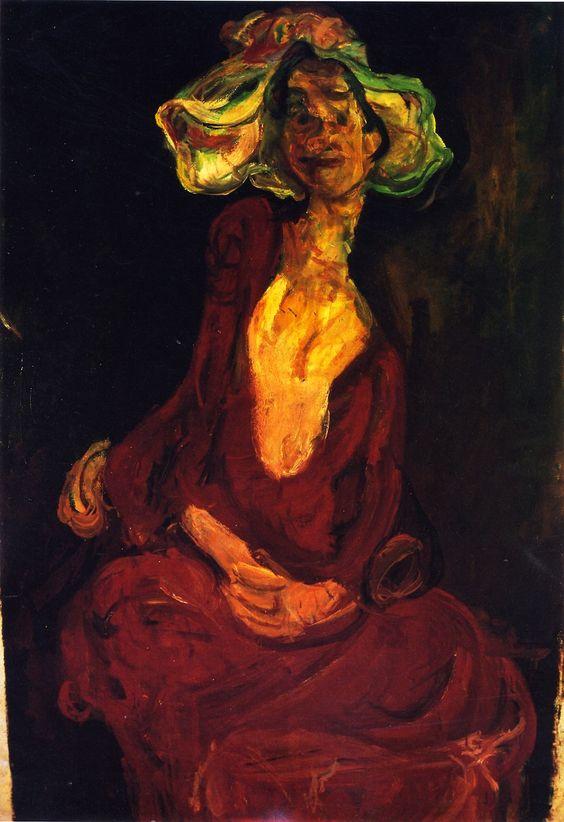 The Large Hat, 1924 / Chaim Soutine: